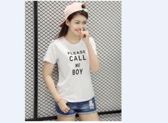 Áo Thun Nữ Please Call Me Boy Cực Cool T&D106 ( Màu Trắng )