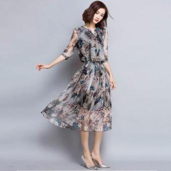 Đầm Xòe In Lụa - ThoitrangCUL