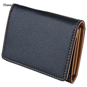 Flama Novelty Pure Color Zigzag Folding Mini Money Card Wallet for Men - intl