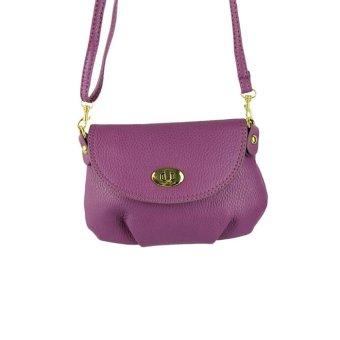 Women's Handbag Satchel Shoulder bag leather Cross Body Tote Bag Purse Purple