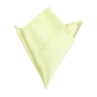 Fancyqube Multicolor Men Wedding Solid Pocket Square Handkerchief Hanky Accessory Light Yellow - Intl