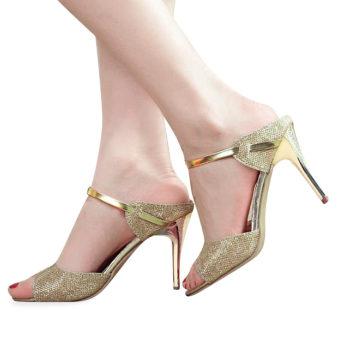 Shallow Fish Mouth Women Sandals(Golden) - intl