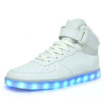 Lovers LED Night Light Couples Men Women Light Up Trainer Lace Up Shoes Sneakers - intl