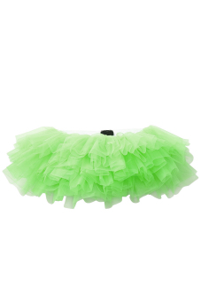 9 Layers Sexy Women Ballerina Tutu Skirt Dress Petticoat Dance Rave Neon Party Halloween Decorations Costumes Green - Intl