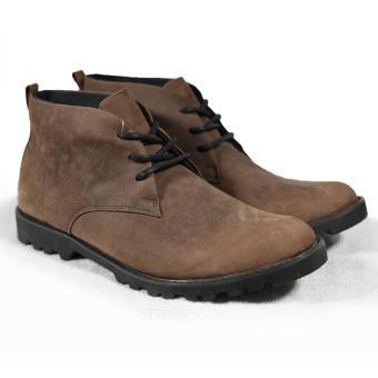 Giày boot nam cột dây đế thô màu nâu da sáp Tathanium Footwear (Nâu)