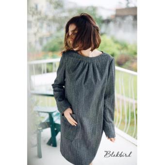 Đầm suông cá tính Xavia Clothes Balckbird