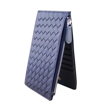 Women Thin Hand-Woven Multi-Card Bit Wallet Navy blue - Intl