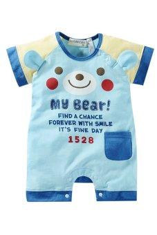 Bộ áo liền quần liền hình thú ngộ nghĩnh Family Shop TEH11 (Xanh)