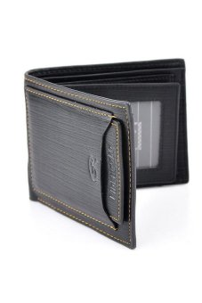 HKS Men PU Wallet Pockets Money Purse ID Credit Card Clutch Bifold Classic Black - intl