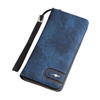 Women Men Retro Zipper Coin Purse Long Wallet Card Holders Handbag - intl
