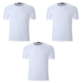 Bộ 3 áo thun nam micro mesh ZANI ZMA81824NW – Màu trắng