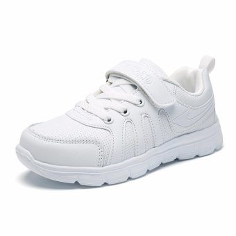 Jarma kid's sneaker students shoes all white shoes running shoes (White) - intl