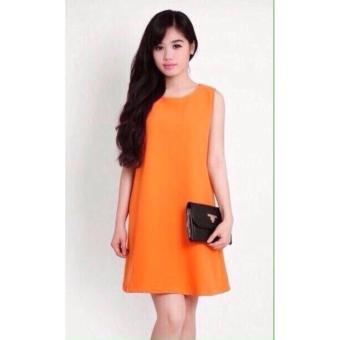 Đầm suông phong cách đơn giản ( cam)