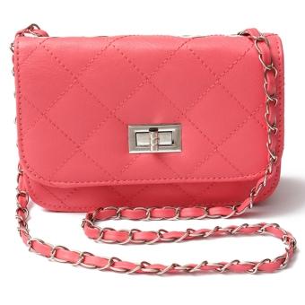 Women PU Leather Messenger Satchel Crossbody Handbags s Watermelon Red - Intl