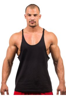 LALANG Fitness Sports Vest Tank Top Undershirt (Black)