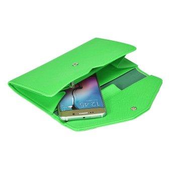 Women Clutch Long Purse Leather Wallet Green