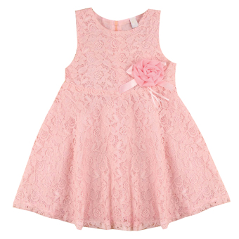 New Lovely Girls Sleeveless Lace Dress - intl