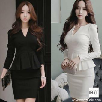 Váy Đầm Công Sở Đẹp Cao Cấp DRESSIE - L029A (Đen)