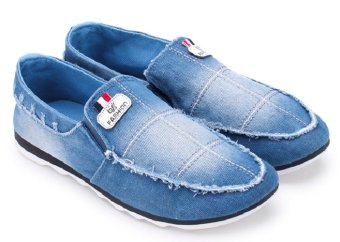 Giày lười thể thao nam AZ79 MNTT0021005A1 (Xanh nhạt)