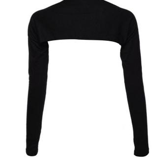 Women Muslim Modal Hijab One Piece Sleeves Shoulder Arm Cover Shrug Bolero Sleeves Tops Black (Intl)