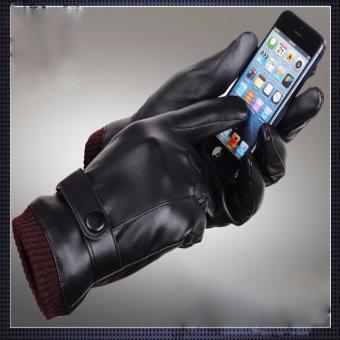 Găng tay nam cảm ứng chống nước (Đen)