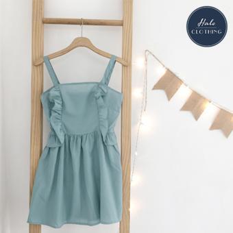 Đầm 2 dây vải kate