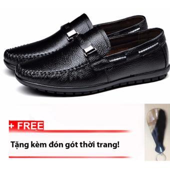 Giày Lười Da Bò Thật