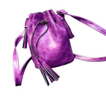 Women Handbag Shoulder Bag Tassel Messenger Hobo Bag Purse Satchel Purple