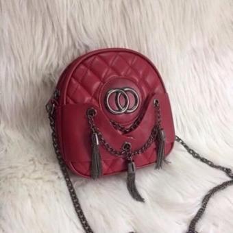 Túi đeo chéo quả bầu 3 râu sành điệu (Màu đỏ)