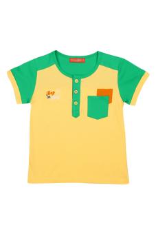Áo thun bé trai tay ngắn V.T.A.Kids BT41104VX (Vàng phối xanh)