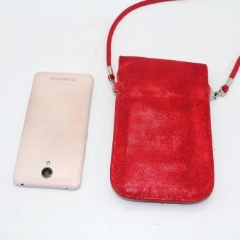 Women Fashion Applique Mobile Phone Bag Clutch Purse Shoulder Bags RD - intl