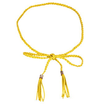 Bohemia Weave Tassels Waist Belt Waist Chain Yellow