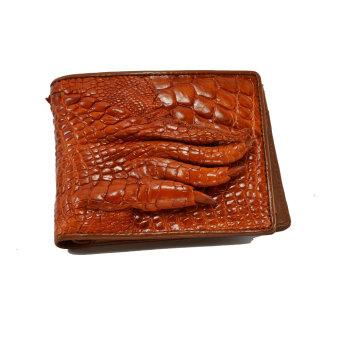 Ví nam da cá sấu móng tay Gia Huy GH-S112-4 (Vàng bò)