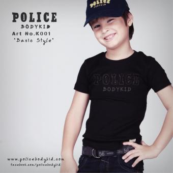 Áo thun trẻ em Police Bodykid nhập khẩu Thái Lan K001 (Đen)