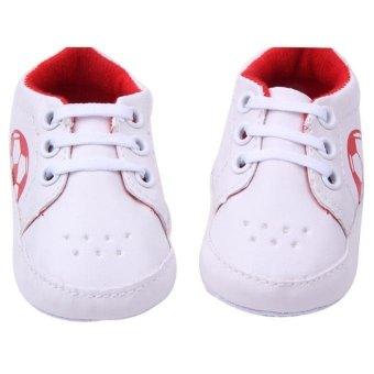 Baby Girls Soft Sole Crib Warm Button Flats Cotton Boot - intl