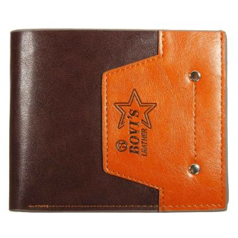Fashion Men Casual Wallet Short men wallet PU Leather Wallet Random NEW - intl