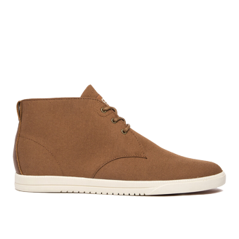 Giày Sneaker nam Cổ Cao Clae Strayhorn Textile (Cla01274) (Nâu Lông Gấu)