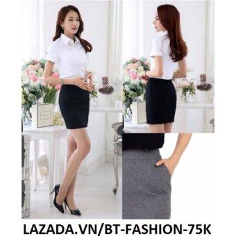 Váy Công Sở Thời Trang Cao Cấp - BT Fashion VCS001C (Ngắn - Có Túi - Xám Chuột))