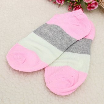 Women Cute Candy Color Girl Ankle Socks Low-Cut Casual Soft Cotton Sport Hosiery Pink - Intl