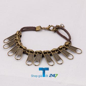 Vòng tay da lộn móc khóa Handmade (Đồng)