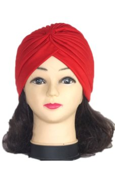 LaLaNG Adult Unisex Fashion Scarf Hat Knit Ear Cap India Cap (Red)
