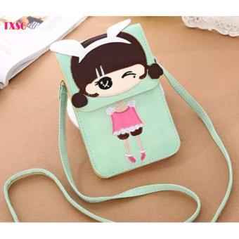 Túi điện thoại cô gái xinh xắn TXSG G3 (Xanh Cốm)