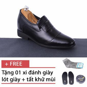 Giày tăng chiều cao nam SMARTMEN GL-10 (Đen) + Tặng 1 hộp xi + 1 lót giày khử mùi + 1 đôi tất khử mùi