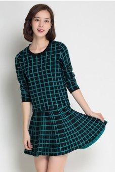 Bộ áo len và chân váy xòe DL2502X