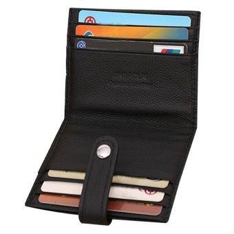 Luxury Retro Mens Leather Bifold Wallet Credit ID Card Slim Purse Black
