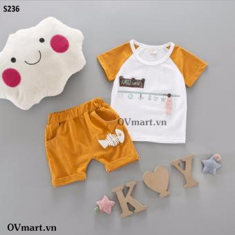 Quần áo bé trai - Set Cá Cam - S236