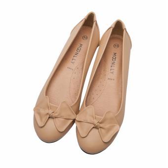 Giày búp bê nữ xẹp đính nơ Moonlly