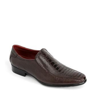 Giày tây da đà điểu GS6027 - Nâu