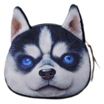 Fancyqube Dog Face Keys Coin Purse Wallet (04)