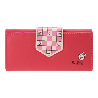 New PU Leather Wallet Mini ID Card Credit Card Payment Bag Purse (Int: One size) - Intl